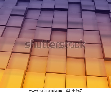 Abstract Sunset Blocks Background
