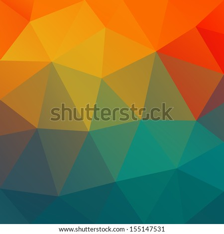 Abstract sunset  - raster version - stock photo