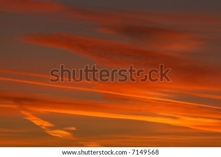 abstract sunset sky - stock photo