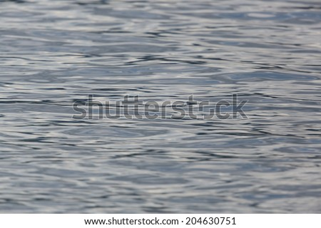 Abstract surface of natural water in a lake