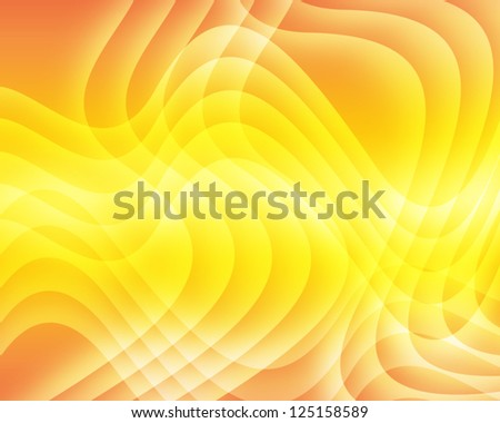 Abstract swirl bright background in orange color - stock photo