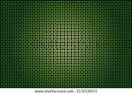 Abstract Swirl of Green Dots on a smooth light tunnel. Raster version  - stock photo