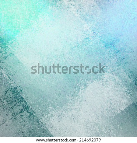 abstract teal blue background with white faded diagonal grunge rectangle shapes layered in random pattern - stock photo