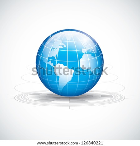 Abstract tech circles background design.World technology