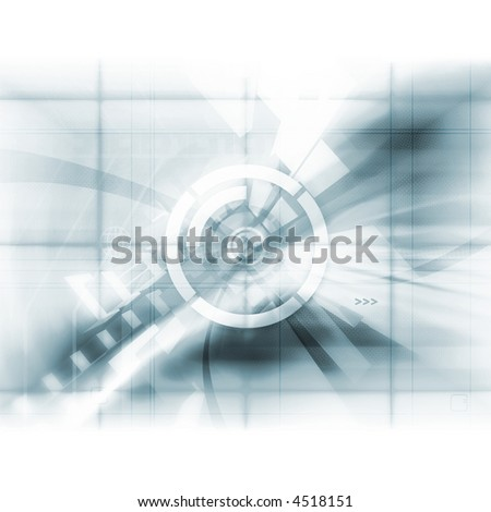 Abstract Tech - High-res background with interesting dot screen effect. - stock photo