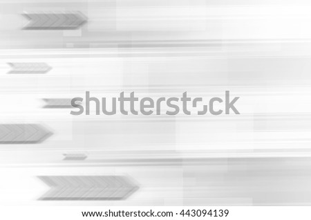 abstract tech with arrows on gray background. - stock photo