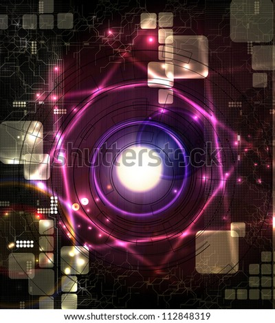 Abstract technical background - stock photo