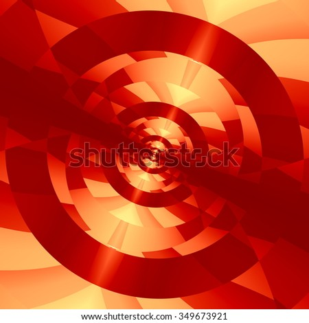 Abstract technology background. 3D image render. Full frame picture. Unique visual arts. Crazy red colored passage. New technology theme. Cool periodic effect. Locked target concept. Graphics. - stock photo