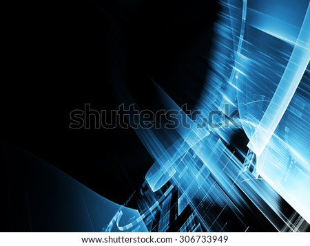 Abstract technology background. Detailed computer graphic. - stock photo
