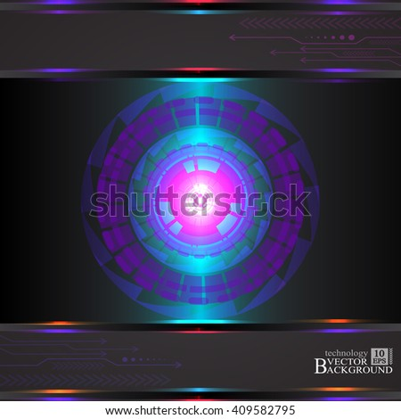 Abstract Technology background for computer graphic website and internet. Vector - stock photo