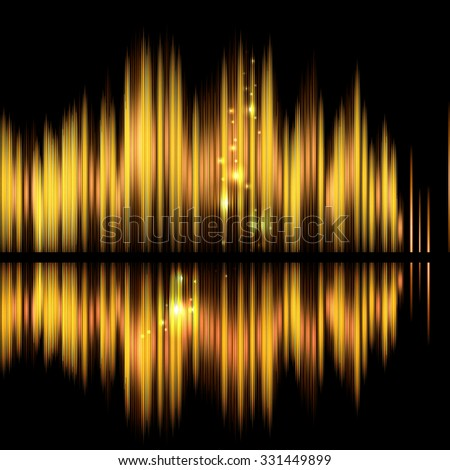 Abstract technology background-shiny sound waveform. Raster version. - stock photo
