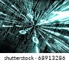 abstract technology background with binary code - stock photo
