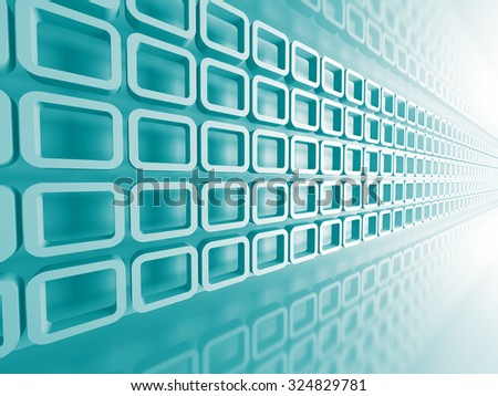 Abstract Technology Blue Flow Background. 3d Render Illustration - stock photo