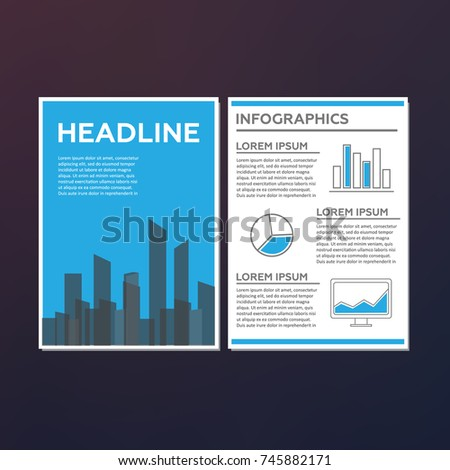 Abstract Technology Brochure Template Stock Illustration