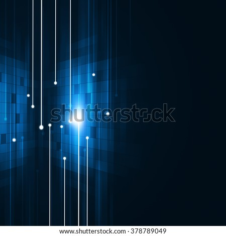 abstract technology connection dark blue concept background