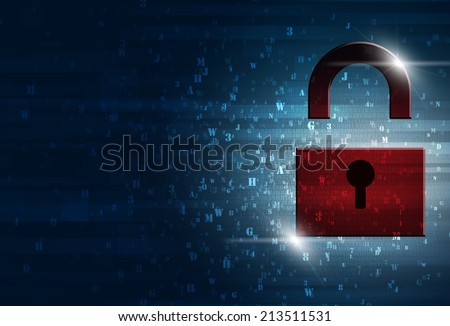 abstract technology digital binary code information security - stock photo