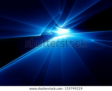 abstract technology horizon background - stock photo