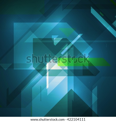Abstract technology illustration, stylish concept