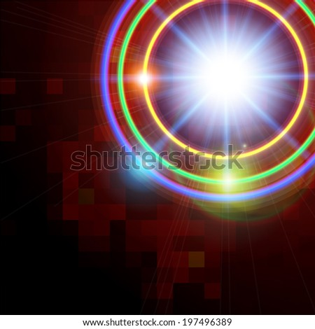 Abstract technology shining circle  background. Raster version.