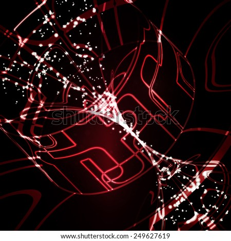Abstract technology, technical drawing, shiny space background - stock photo