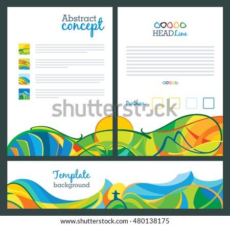 Brochure template cover design annual report stock for America brochure template