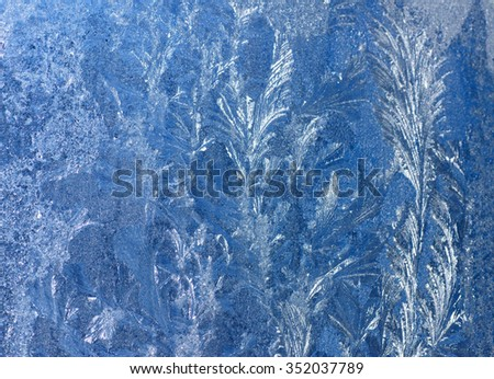 Abstract texture, background. Frosty pattern on glass