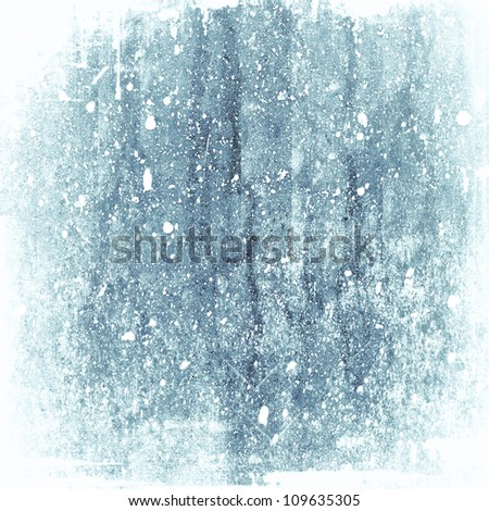 Abstract Texture Blue Ice Winter Background - stock photo