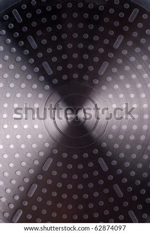 abstract  texture metal surface of the bottom pan - stock photo