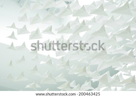 Abstract texture of paper planes - stock photo