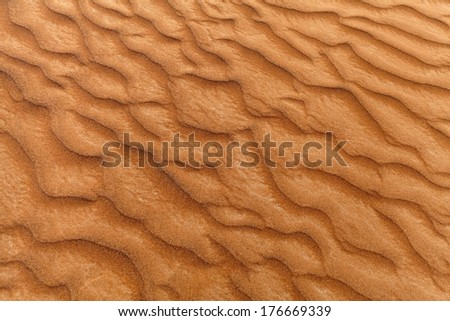 Abstract texture of sand dune in a desert - stock photo