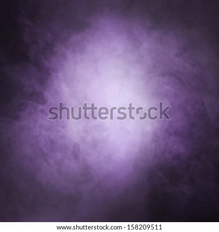 Abstract texture of the purple smoke over black background - stock photo