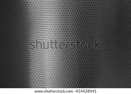 Abstract texture silvery metal cylindrical shape with reflections useful for backgrounds - stock photo