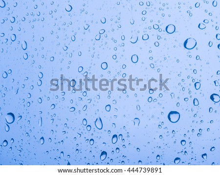 Abstract texture - water drops on glass