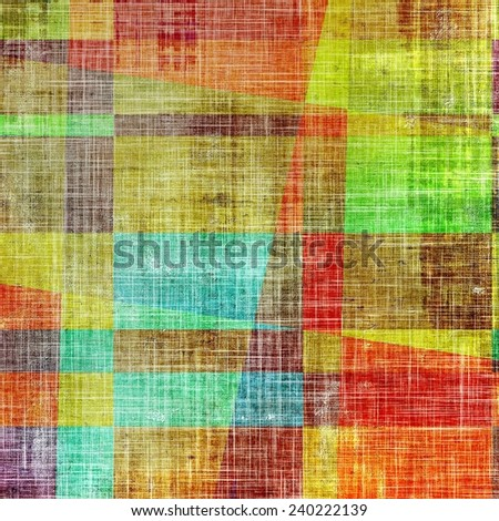 Abstract textured background designed in grunge style. With different color patterns: blue; yellow (beige); brown; green; purple (violet); red (orange) - stock photo