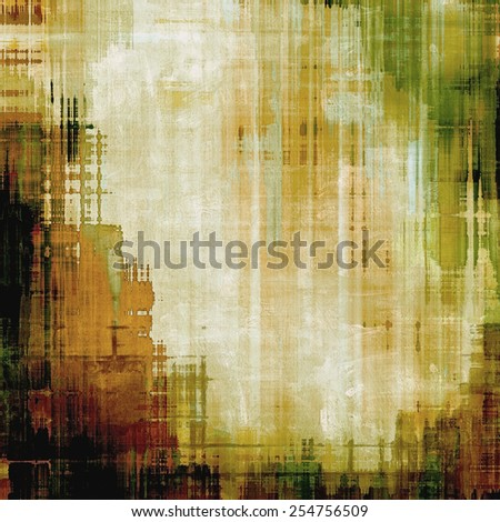 Abstract textured background designed in grunge style. With different color patterns: yellow (beige); brown; gray; green - stock photo