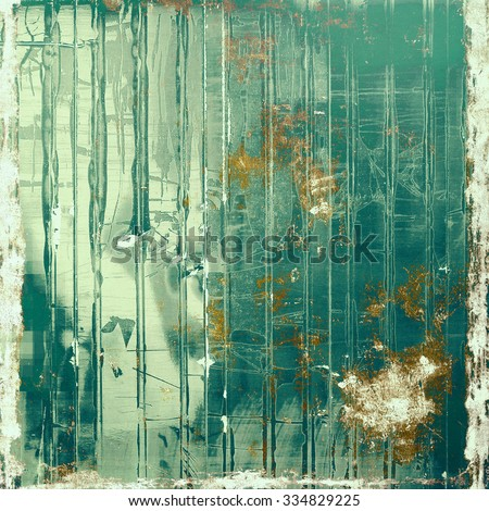 Abstract textured background designed in grunge style. With different color patterns: yellow (beige); brown; green; blue - stock photo