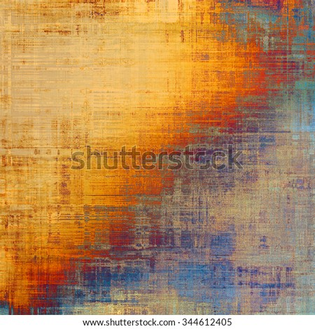 Abstract textured background designed in grunge style. With different color patterns: yellow (beige); brown; red (orange); blue - stock photo