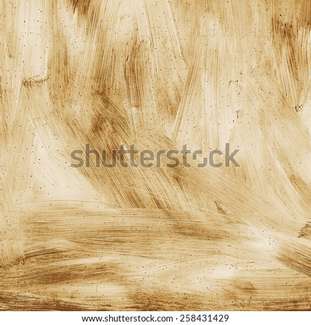 Abstract textured background grunge rusty metal surface is painted bright paint sepia - stock photo