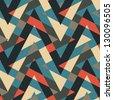 Abstract textured geometric ornament. Seamless pattern. Illustration. - stock photo