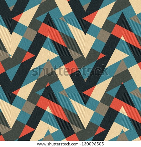 Abstract textured geometric ornament. Seamless pattern. Illustration. - stock photo