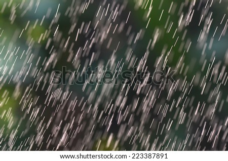 Abstract textured white bar rain on a Nature background - stock photo