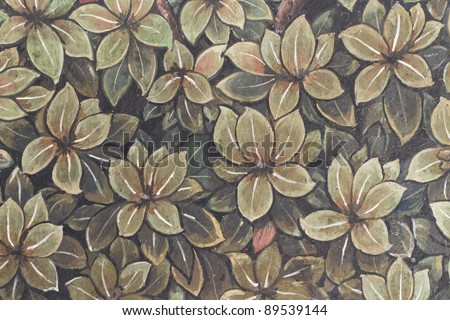 Abstract Thai style vintage background - stock photo