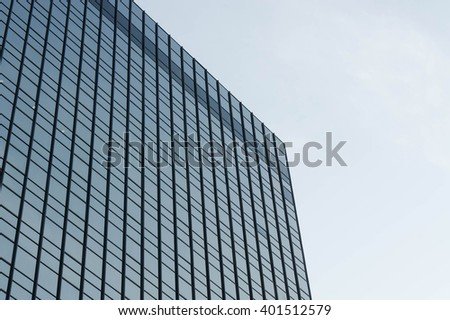 abstract, the blue sky building in thailand