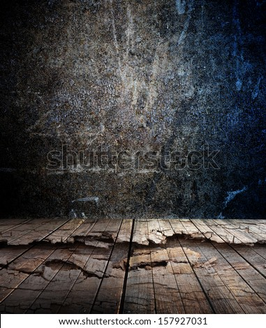 abstract the old grunge wall for background - stock photo