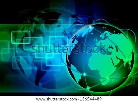 abstract the world technology - stock photo