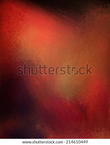 abstract thick red paint background on black wall with random grungy brush strokes and dramatic lighting, artsy modern background art - stock photo