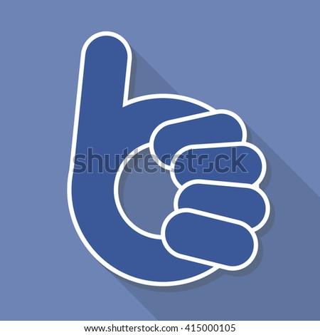 abstract thumb up- like symbol - stock photo