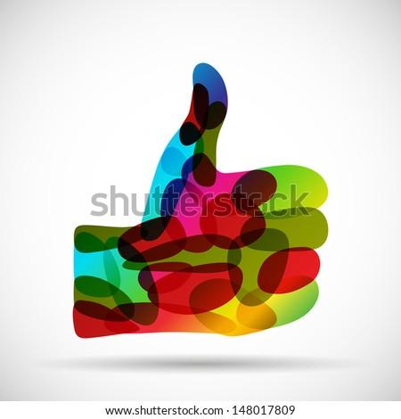 abstract thumbs up, jpg - stock photo