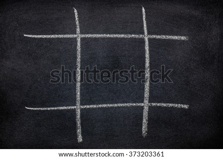 Abstract Tic Tac Toe Game Competition. XO Win Challecge Concept on black board - stock photo