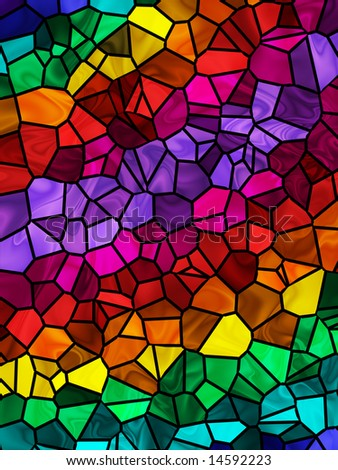Abstract tile background in bright rainbow colors.